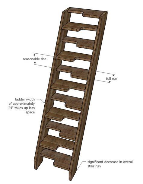 Alternating-Tread-Stair-Plans