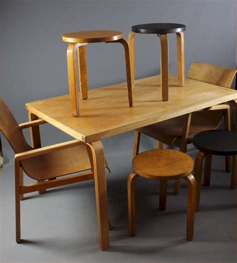 Alvar Aalto Dining Table And Chairs
