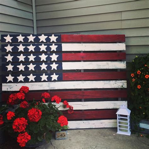 American Flag Wood Pallet Diy Pinterest