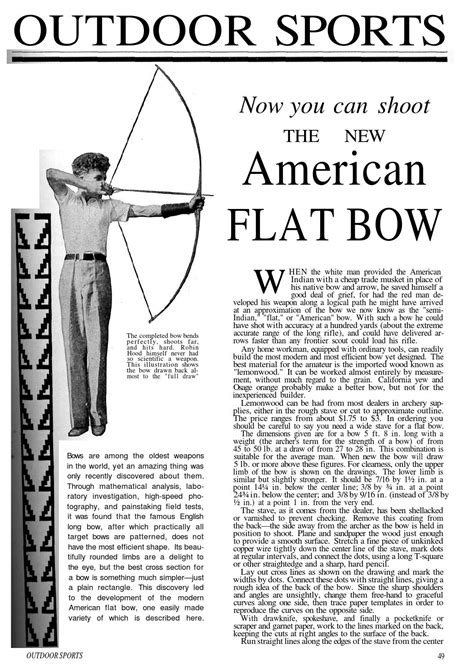 American Flat Bow Plans