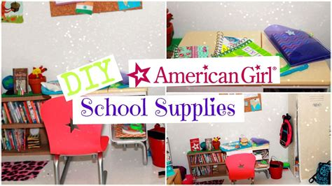 American Girl Diy School Supplies