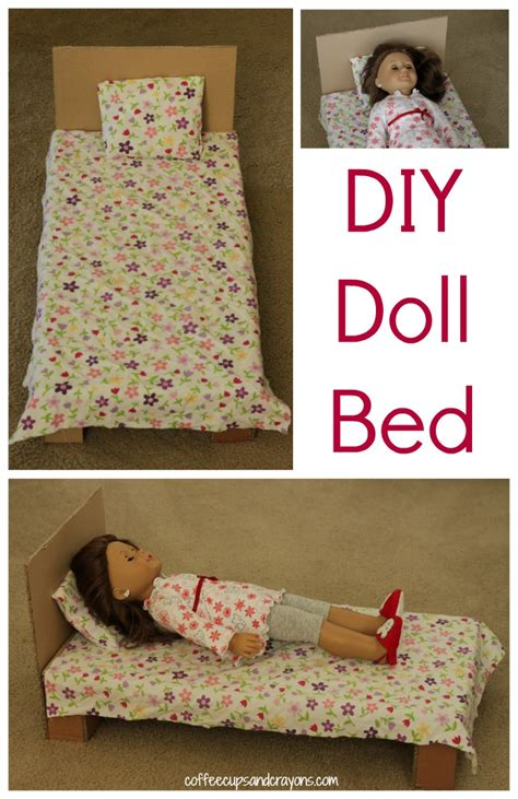 American Girl Doll Diy Bed Out Of Cardboard