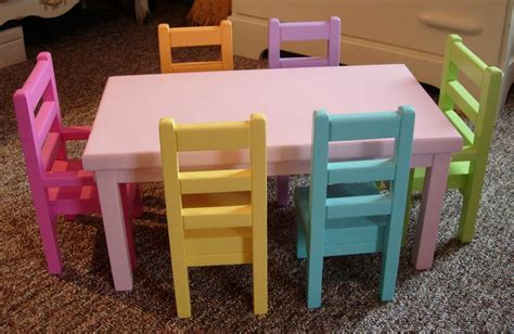 American Girl Doll Table And Chairs Diy