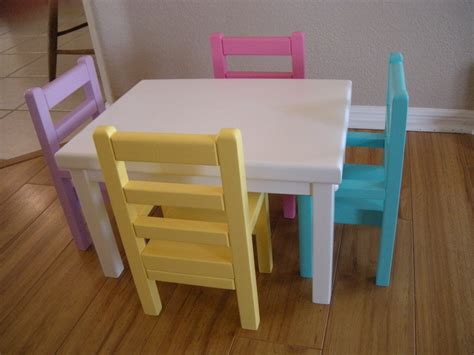 American Girl Table And Chairs DIY