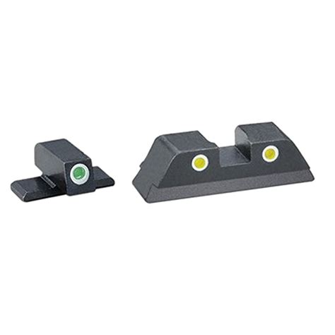 Ameriglo Classic Tritium 3dot Night Sights For Beretta And Glock Adjustable Sight Set L P A Sights Gunsmike Bugpy Co