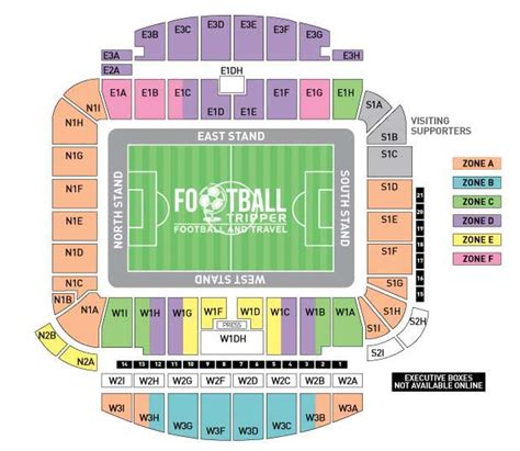 Amex Stadium Seating Plan West Stand