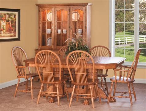 Amish Oak Kitchen Table And Chairs