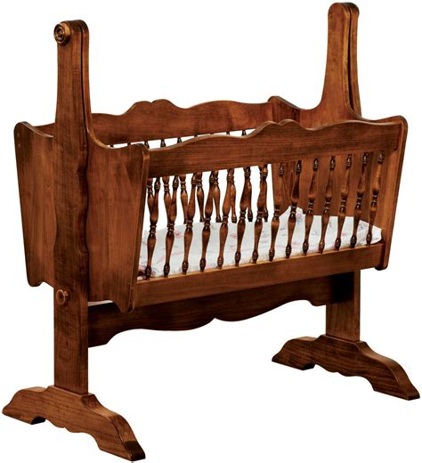Amish Wooden Baby Cradles