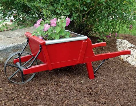 Amish Wooden Wheelbarrow Planter Plans