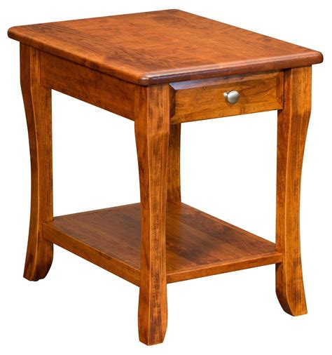 Amish end tables with drawers Image