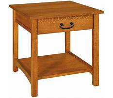 Best Amish end tables with drawers