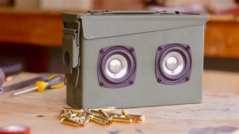 Ammo Can Bluetooth Speaker Plans