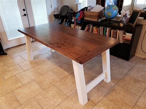 Ana White Farmhouse Table Bench Plans