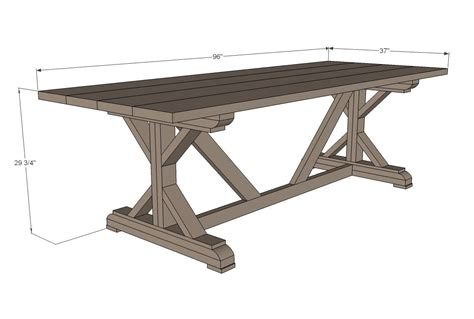 Ana White Farmhouse Trestle Table Plans