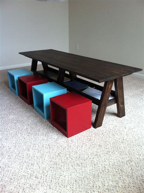 Ana-White-Double-Trestle-Play-Table