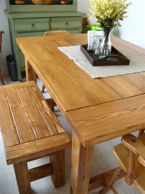 Ana-White-Farm-Table-And-Bench