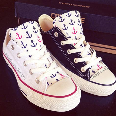 Anchor Converse Low Top Sneakers