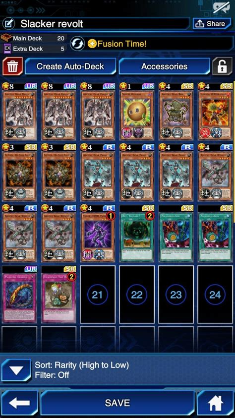 Ancient Gear Deck Build Duel Links Characters