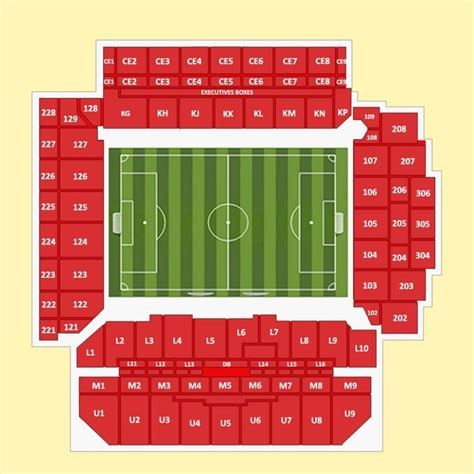 Anfield New Main Stand Seating Plan