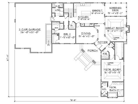 Angled Front Door House Plans