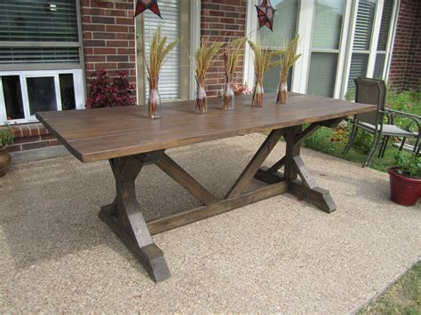 Anna White Fancy X Farmhouse Table Plans