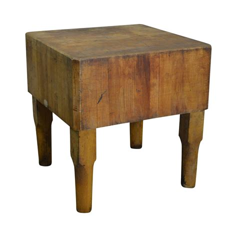 Antique Butcher Block Coffee Table
