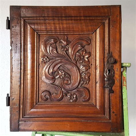 Antique Hand Carved Cabinet Doors