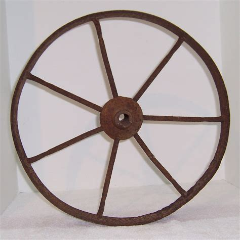 Antique Metal Wheelbarrow Wheels