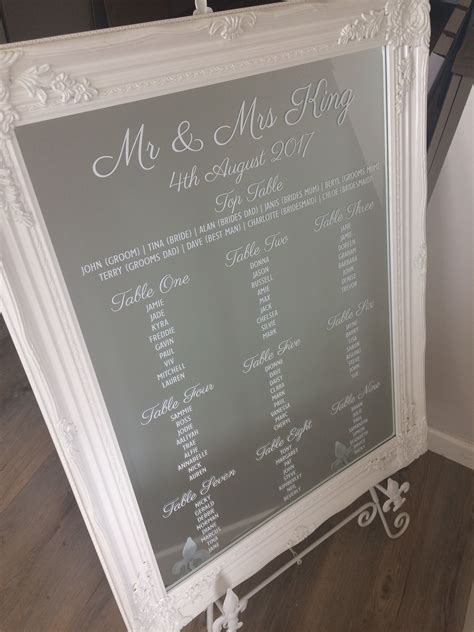 Antique Mirror Table Plan
