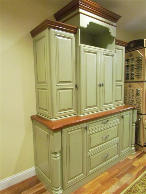 Antique Shaker Kitchen Stepback Cabinet