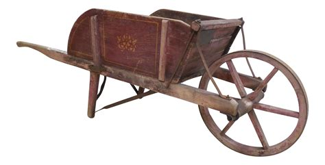 Antique Wheelbarrow Wooden