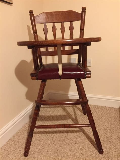 Antique Wooden High Chair Ebay