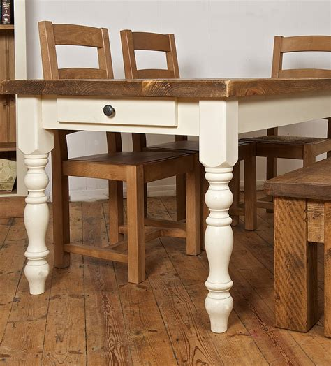 Antique-Bare-Wood-Farmhouse-Table
