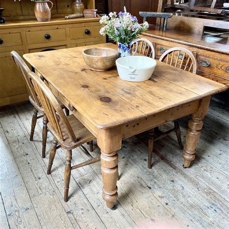 Antique-Pine-Farmhouse-Dining-Table
