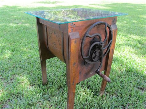 Antique-Wooden-Butter-Churning-Farm-Table