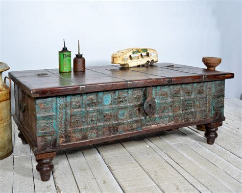 Antique-Wooden-Trunk-Coffee-Table