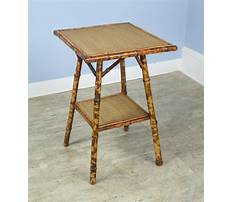 Best Antique bamboo end table
