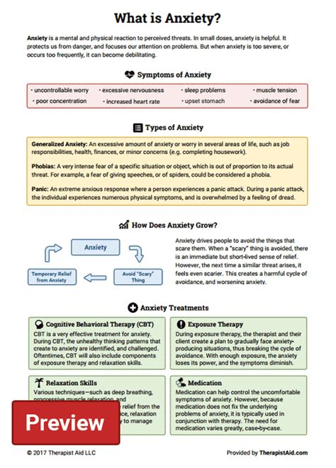 @ Anxiety Worksheets  Therapist Aid.