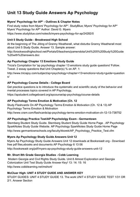 Ap Psychology Chapter 16 Study Guide And Benefits Of Studying Psychology For Business