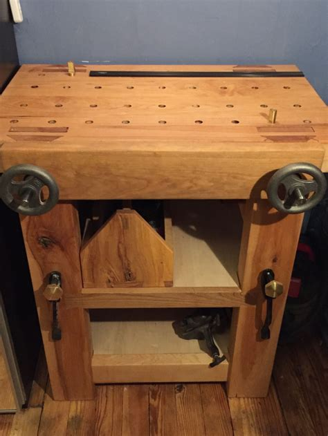 Apartment-Woodworking-Bench