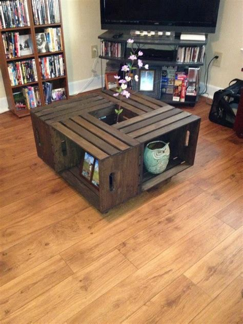 Apple Crate Coffee Table Diy