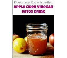 Best Apple cider vinegar detox