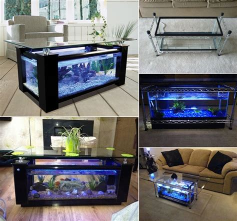 Aquarium Coffee Table Diy Bench