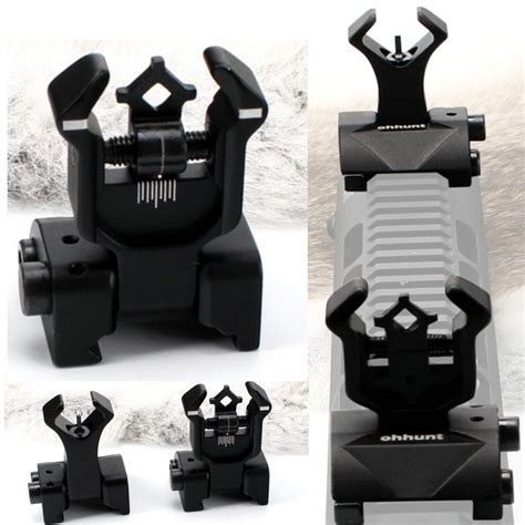 Ar 15 Tactical Flip Up Front Rear Iron Sights Set And Wolff Magazine Spring 1911 Government Midwayusa Com