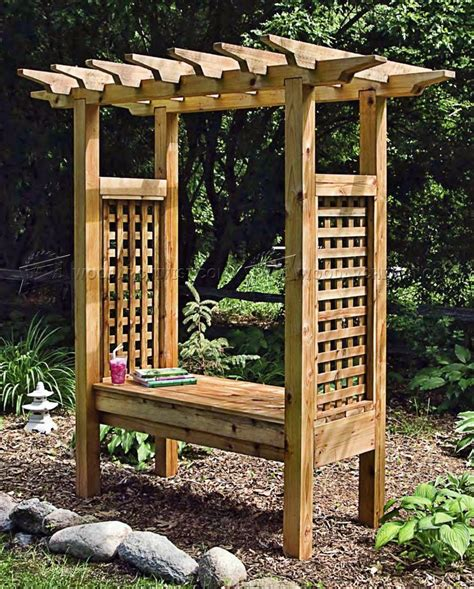 Arbor Plans With Bench