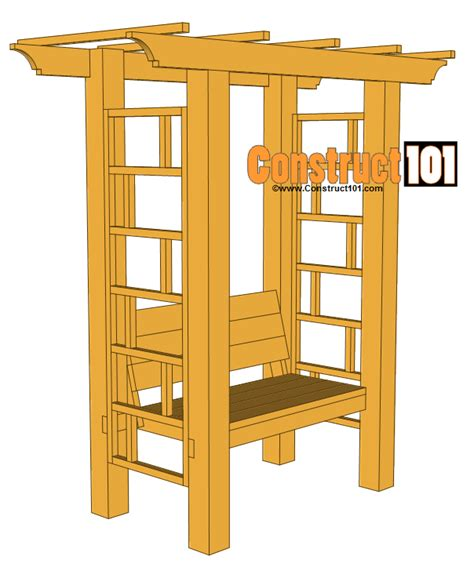 Arbor-With-Bench-Free-Plans