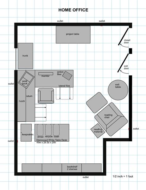 Area For Office Chair On Floor Plan