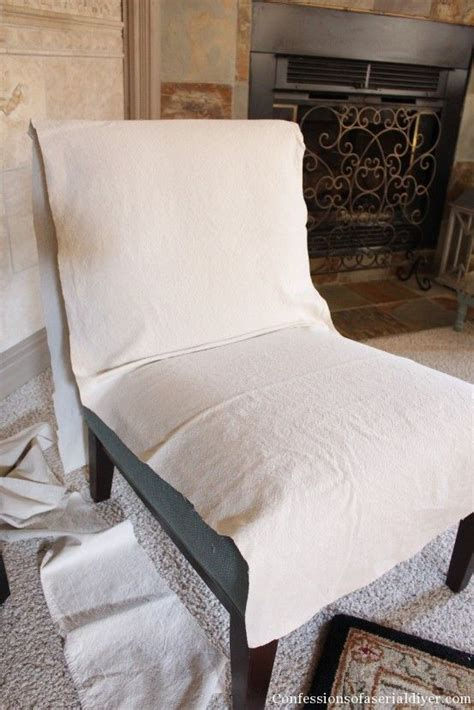 Armless Chair Slipcover Diy
