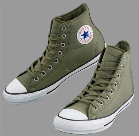 Army Green Converse Sneakers