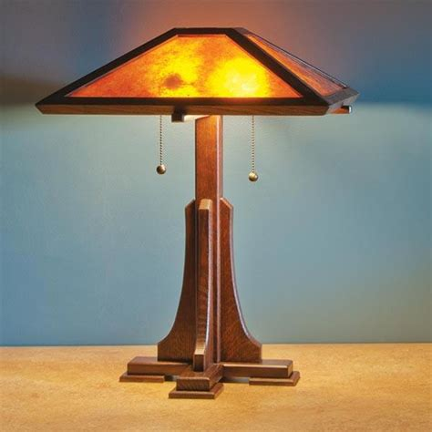 Arts And Crafts Style Lamp Plans